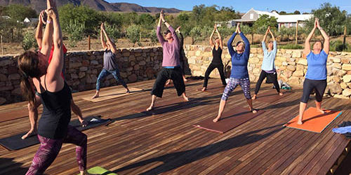Karoo Yoga Saluting the Sun